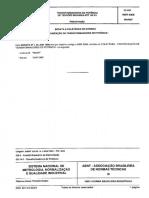 NBR 09368 - 1987 - Transformadores de Potência de Tensões Máximas Até 145 KV - Características Elétricas e Mecânicas
