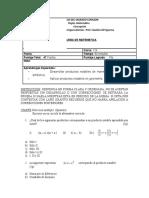 Instrumento de Evaluación Mayo 2017
