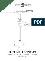 Minn Kota Riptide Transom 36 Saltwater Mount 45 Lb - 5 FWD3 REV