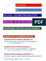 Rectas - Geometria Analitica - 5to