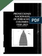Proyecciones 1950 - 2025 Nacional