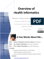 Overview of Health Informatics