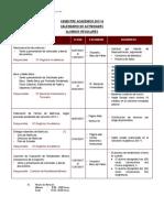 Calendario Academico 2017 II Regulares