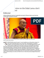 The Guardian view on the Dalai Lama