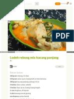 Cookpad Com Id Resep 3036336 Lodeh Rebung Mix Kacang Panjang