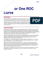 Tests for One ROC Curve