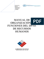 Manual de Org y Fun. Dpto Rrhh