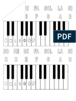 Piano Teclado Notas