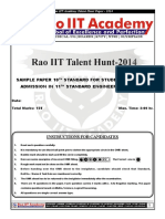 RaoIIT Std 10th Sample Paper Pcm