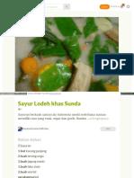 Cookpad Com Id Resep 3032708 Sayur Lodeh Khas Sunda