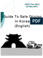 USFK Pam 385-2  Guide to Safe Driving in Korea English