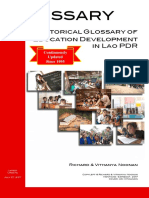 Historical Glossary of Education Development in Lao PDR (July 27, 2017 edition)
