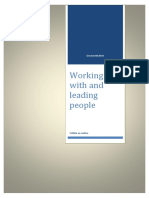 Working With and Leading People Coursework