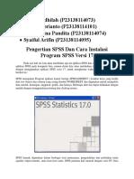 Statistik SPSS Kelompok 8