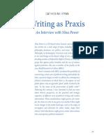 Writing as Praxis
