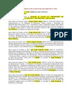 Resolución 315-15 Tribunal de Cuentas