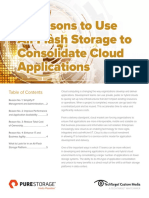 4 Reasons to Use All-Flash Storage to Consolidate Cloud Applications FINAL