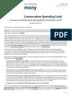 2017 07 26 Testimony Conservative Spending Limit HJR1 CFP VanceGinn