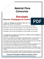 Simulado PAULO FREIRE Pedagogia Da Autonomia