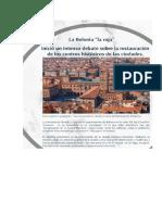Uando El Plan de Bolonia Era Una Referencia Urbanística