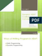 ABAP Dynamic Coding