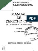 Manual de Dº - Fuentes Las Obligaciones - Tomo i - Ramon Meza Barros