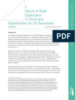 Appropriate Norms of State Behavior in Cyberspace