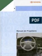 Manual de Usuario Toyota Hilux Arg 01-04