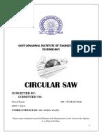Project Report circular saw