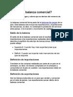 Balanza Comercial, Tasa de Cambio y Divisas