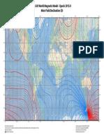 World Magnetic Model - Epoch 2015.0 Main Field Declination (D)
