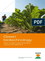 Green Biotechnology – Why Modern Plant Breeding Cannot Do Without It