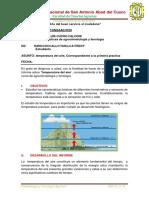 CLIMATOLOGÍA-INFORME
