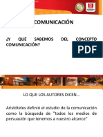 La Comunicación. Texto Escandell