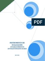Instrumento de Evaluacion Establecimientos Autogestionados en Red 2013