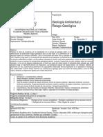 Geologa Ambiental y Riesgo Geolgico Analtico Plan 2012
