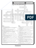Dr Jekyll and Mr Hyde Crossword