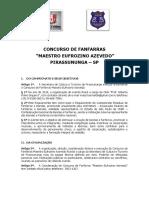 Regulamento Pirassununga 2014 fanfarras e bandas