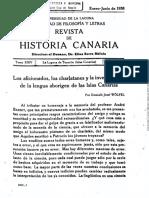 Los Aficionados, Los Charlatanes y La Investigación de La Lengua Aborigen de Las Islas Canarias
