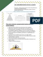 Tips para mejorar velocidad lectora  Y COMPRENSIÓN LECTORA EN 2°-3° Y 4° BÁSICO