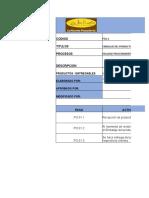Ficha de Procesos e Instructivos