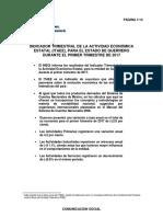 Indicador trimestral de la Actividad económica Estatal para el estado de Guerrero