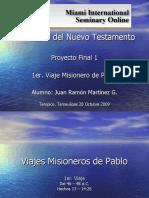 Viajes Misioneros de Pablo 1ro