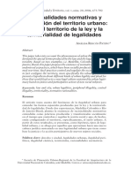 Racionalidades normativas y apropiación del territorio urbano