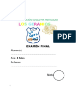 Examén Final 04 Años