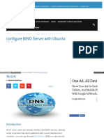 Configure Bind Server Ubuntu 16 04