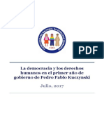 La democracia y los derechos humanos en el primer año de PPK