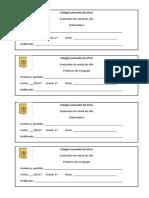 Evaluaciones de Mitad de Año Membretes