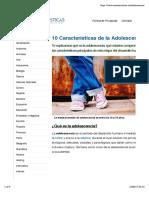 10 Características de la Adolescencia