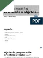 Programación Orientada a Objetos POO